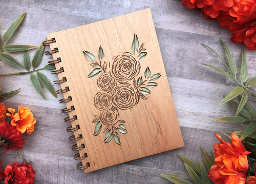 Floral Wood Journal