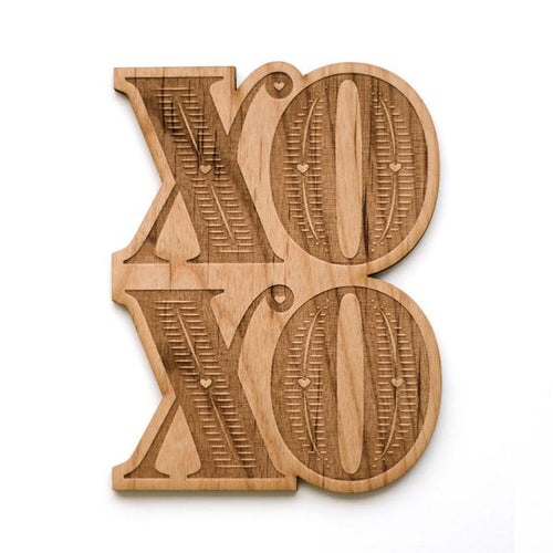 XO Wood Card