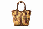 Brown shopper basket