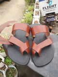 One Off A Kind Leather slippers