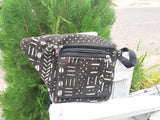 Mud cloth waist bag
