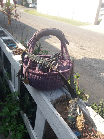 Leather Basket Bags