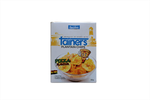 TAINERS PLANTAIN CHIPS Pizza Flavour