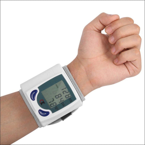 Automatic Digital Wrist Blood Pressure Monitor for Measuring Heart Beat Pulse Rate - Blood Pressure