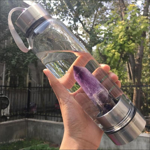 Crystal Water Bottle Are you into healing crystals - Water Bottle