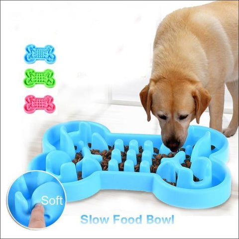 Does your dog eat too fast Protect them from choking with this Dog Bone Bowl! - Pets