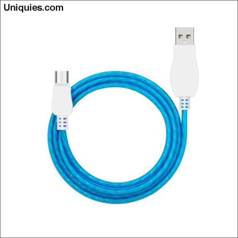 Glowing Charging Cable - Blue / For Android / Buy 1 GET 50% Off