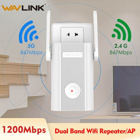 Wavlink AC1200 Wifi Repeater 5Ghz Wireless WIFI Access Point 2.4G Wi-Fi Range Extender 1200Mbps wifi signal booster Coverage