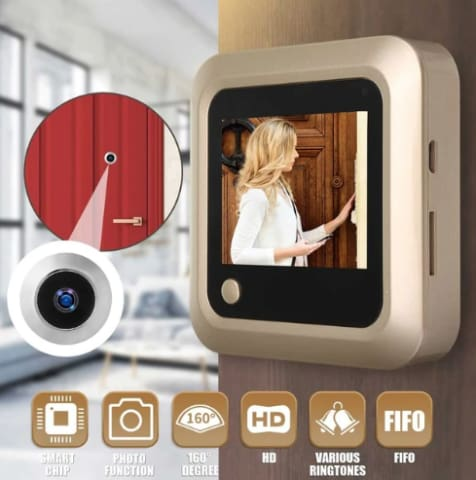 Peephole Camera Will Help Keep your family safe!