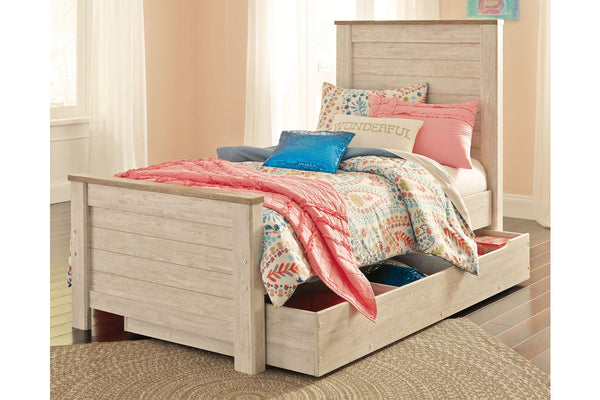 Willowton Twin Panel Bed with Trundle