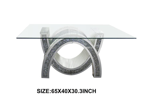 Crushed Diamond Design Dining Table