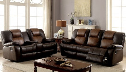 Brown Sofa and Loveseat 2 tone