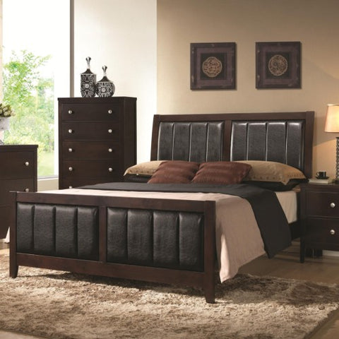 Carlton Upholstered Queen Bed with Paneled Upholstery ( Bedroom Set)
