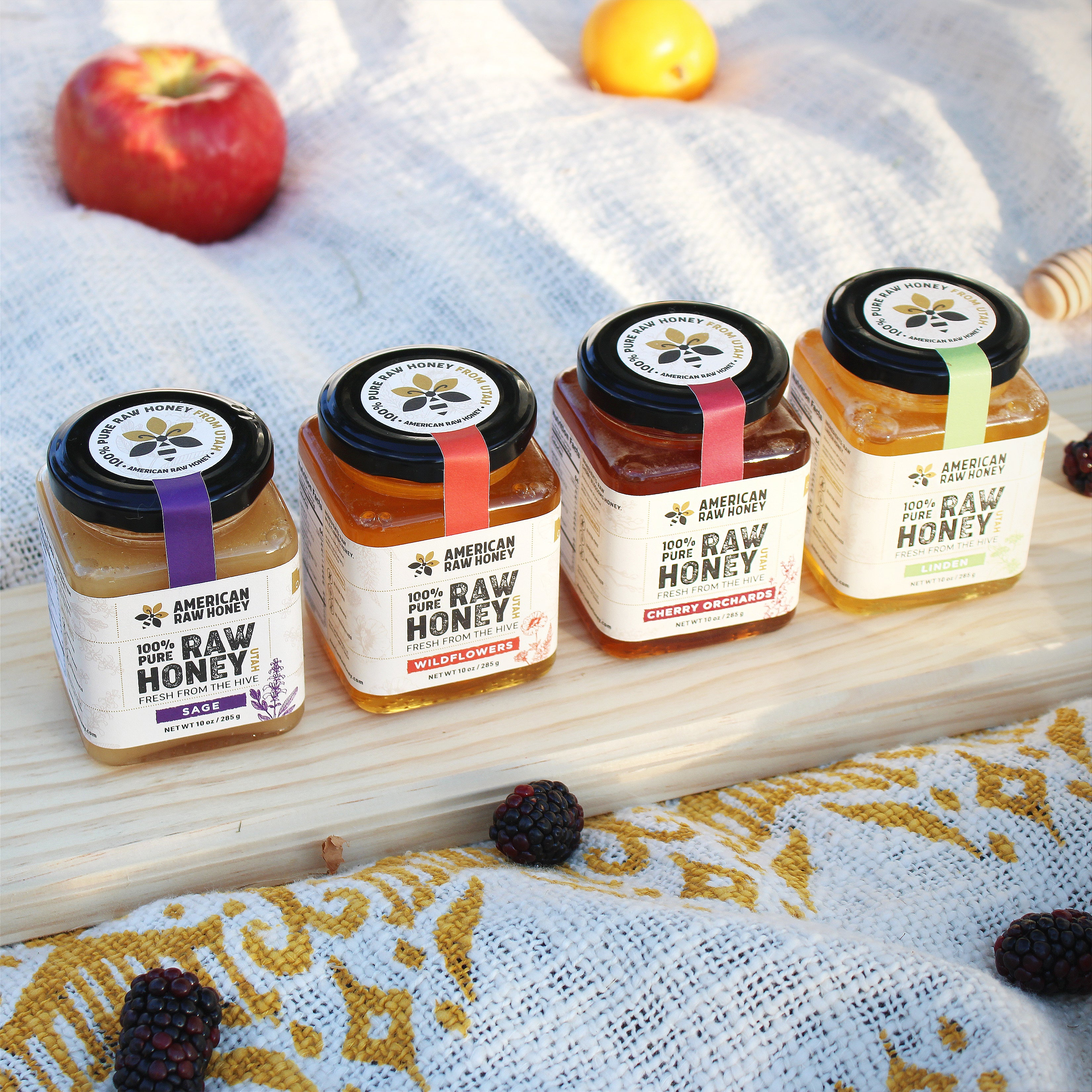 Raw Honey Variety Sampler Pack, 10 oz x 4