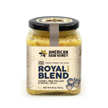 Royal Blend Raw Unprocessed Honey With Bee Pollen & Royal Jelly