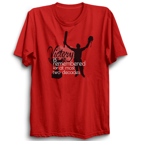 Victory red half sleeves tshirt