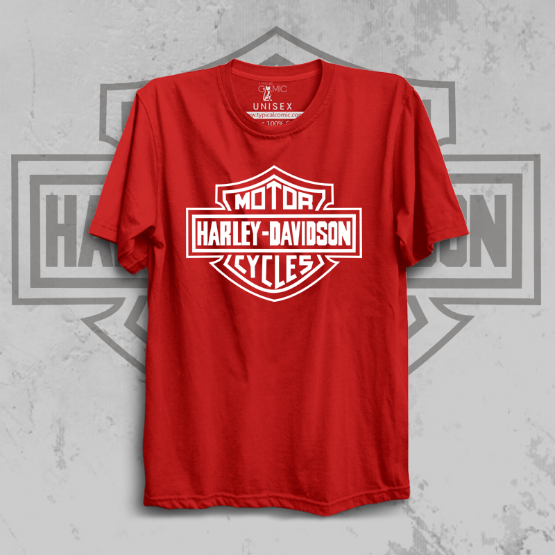 HARDLEY DAVIDSON - red half sleeves Tshirt