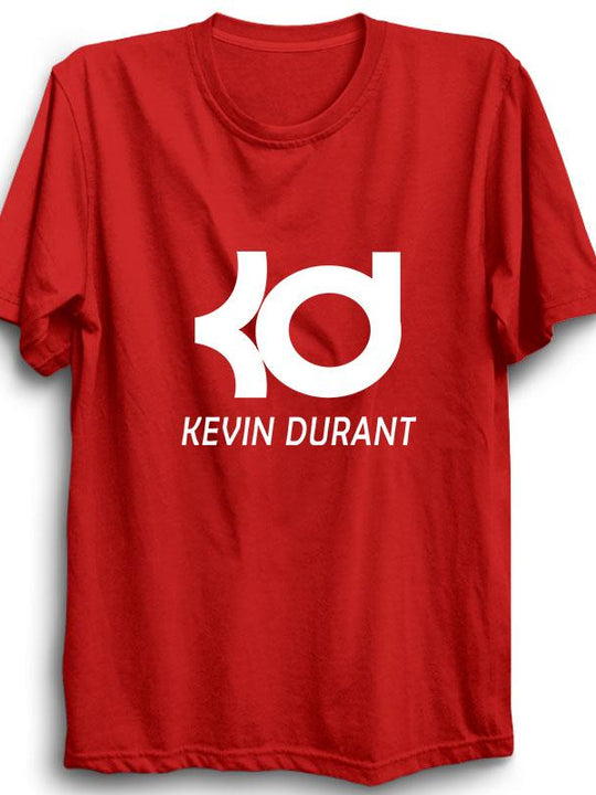 Kevin Durant Half Sleeve red T-shirt