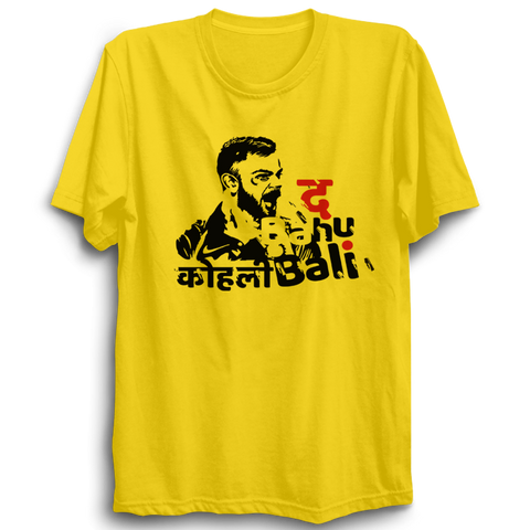 Kohli Bali yellow half sleeves Tshirt