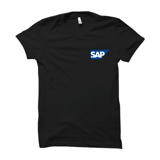 SAP Half Sleeve Black T Shirt