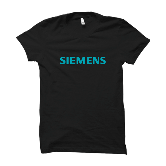 Siemens Black Half Sleev T Shirt