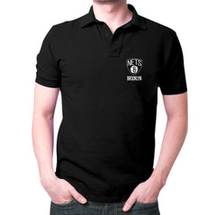 Black Brooklyn Nets Polo T-Shirt
