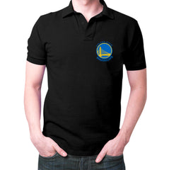 Black Golden State Warriors Polo T-Shirt