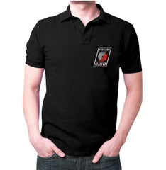 Black Portland Trail Blazers Polo T-shirt