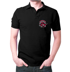 Black Toronto Raptors Polo T-shirt