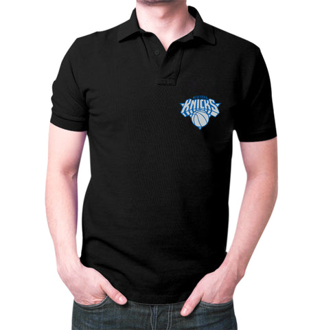 Black New York Knicks Polo T-shirt