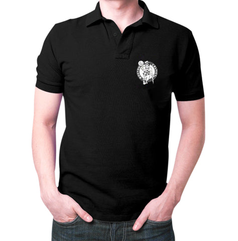 Black Boston Celtics Polo T-Shirt