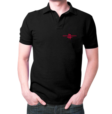 Black Houston Rockets Polo T-shirt