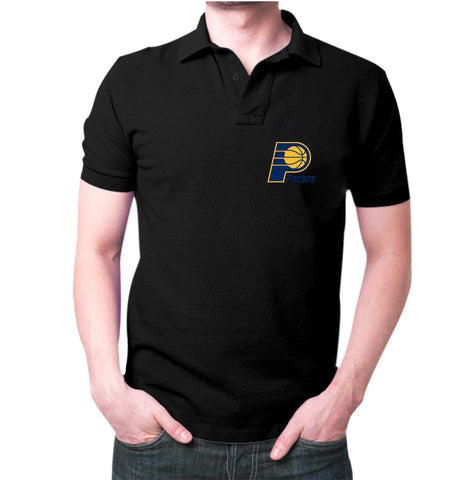 Black Indiana Pacers Polo T-Shirt