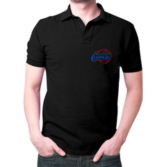 Black LA Clippers Polo T-shirt
