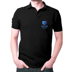 Black Memphis Grizzlies Polo T-shirt