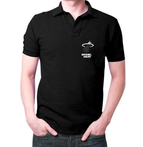Black Miami Heat Polo T-shirt
