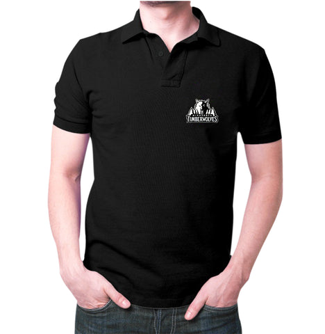 Black Minnesota TimberWolves Polo T-shirt