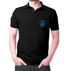 Black New Orleans Hornets Polo T-shirt