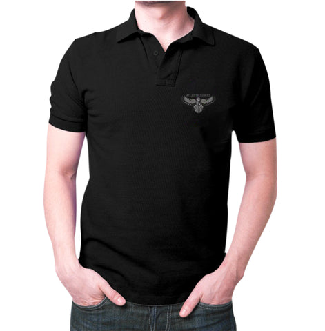 Black Atlanta Hawks Polo T-Shirt