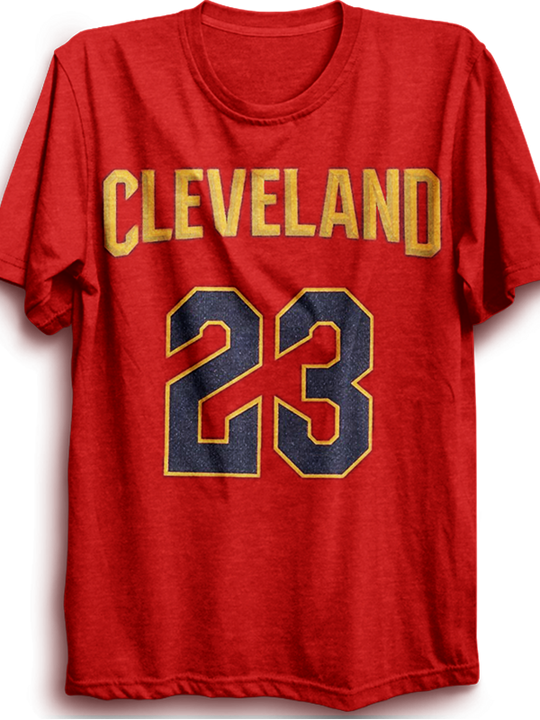 Cleveland 23- RED half sleeves tshirt