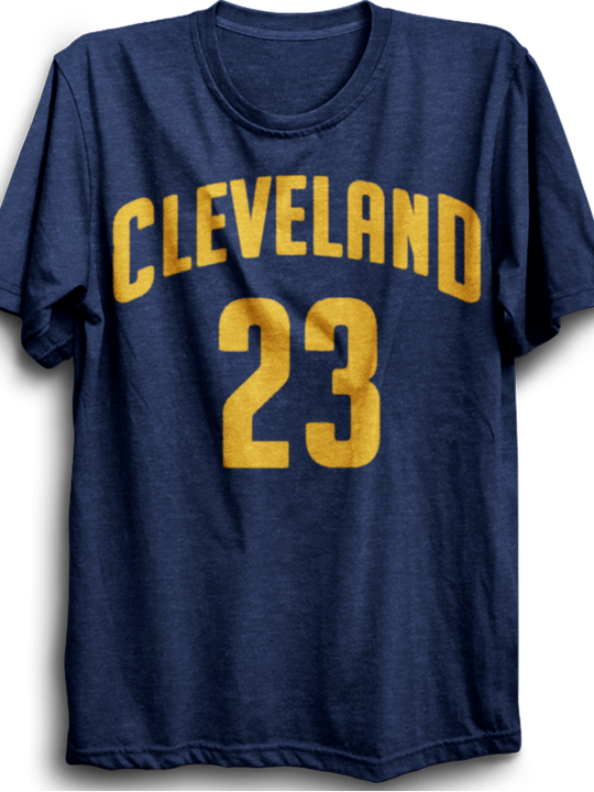 Cleveland 23- navy blue half sleeves tshirt