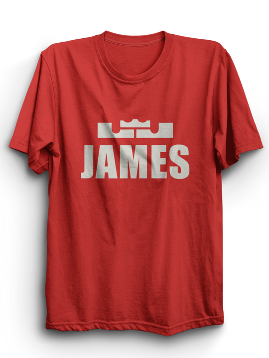 James Red Half Sleeves T-Shirt