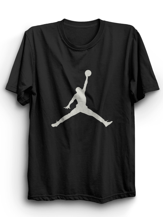 Jordan Black Half Sleeves T-Shirt ( Gray Ink )