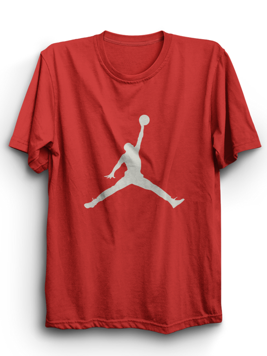 Jordan Red Half Sleeves T-Shirt