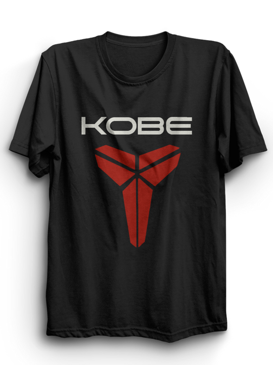 Kobe Black Half Sleeves T-Shirt
