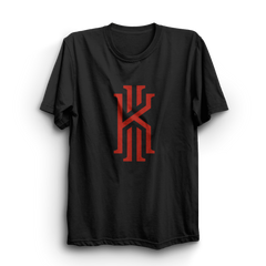 Kyrie Black Half Sleeves T-Shirt