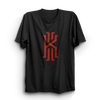 Image of Kyrie Black Half Sleeves T-Shirt