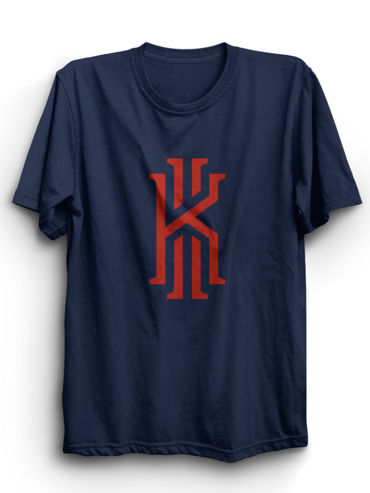 Kyrie Navy Blue Half sleeves T-Shirt