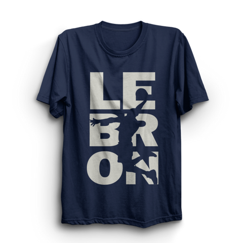 Lebron Navy Half Sleeves T-Shirt