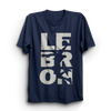 Image of Lebron Navy Half Sleeves T-Shirt